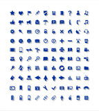 100 icons, Web, media, communications. Signs for the image of internet and media Royalty Free Stock Photo