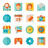Icons web and mobile applications in flat design Royalty Free Stock Photos