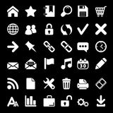 Icons For Web and Mobile on black background Stock Photography