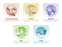 Icons for web and print Royalty Free Stock Images