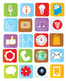 Icons web set funny design bright Royalty Free Stock Images