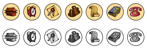 Icons for web site Stock Image