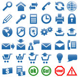Icons for the web site Internet. Vector art in EPS format. All icons organized in layers for usability. 36 objects Stock Images
