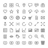 Icons for the web site. Minimalistic icons for web site Royalty Free Stock Images
