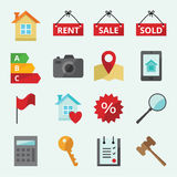 Icons for web site Real Estate Stock Images