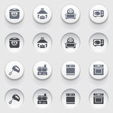 Icons for web on white buttons. Set 33. Stock Image