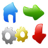 Icons for website Stock Image