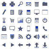 36 icons Royalty Free Stock Photos