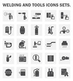 Icons. Welding and tools icons sets on white background Stock Image