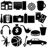 Icons : What men want Royalty Free Stock Photo