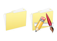 Icons on White. Folder icons isolated over a white background stock illustration