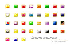 Icons. The icons on the white background royalty free illustration