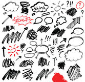 Icons on white board. Royalty Free Stock Photo