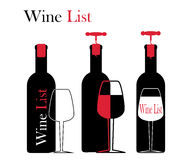 Icons for wine, wineries, restaurants and wine Stock Photography