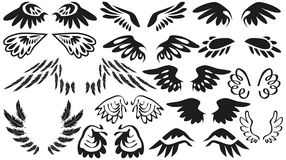 Icons wings Royalty Free Stock Photo