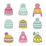 Icons winter hat. Stock Photos