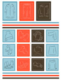 Icons winter things Stock Images