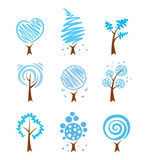 Icons - winter trees Royalty Free Stock Photos