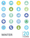 Icons WINTER vector design Royalty Free Stock Photo