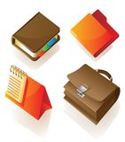 Icons of work items Stock Photography