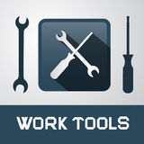 Icons - Work Tools Royalty Free Stock Image