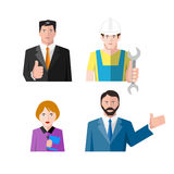 Icons of workers Stock Images