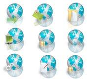 Icons world Stock Image