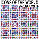 Icons of the world against white Stock Images