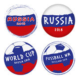 Icons World Cup Russia Royalty Free Stock Images