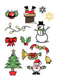 Icons xmas  holiday symbols winter 2 Stock Photo