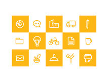 Icons Yellow  Royalty Free Stock Image
