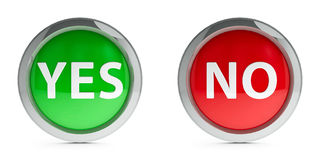 Icons yes & no with highlight Royalty Free Stock Photography
