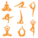 Icons_yoga Royalty Free Stock Photo