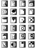 icons03互联网 库存照片