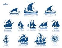 iconset σκάφη παρελθόντος Στοκ Φωτογραφία