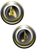 Iconset 01 de los sonidos stock de ilustración