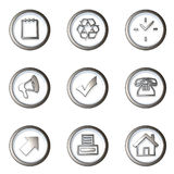 Iconset 1 Stock Images