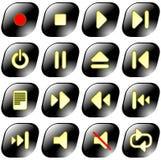 Iconset de vecteur de reproducteur multimédia Photographie stock