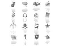 Iconset do Web Fotos de Stock Royalty Free