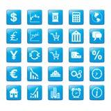 Iconset Märkte stock abbildung