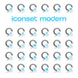 Iconset Modern Blue. Iconset with 30 different icons / buttons Stock Photography