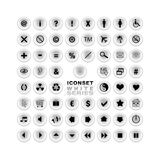 Iconset White Series Stock Images