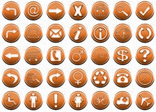 iconset1orange 图库摄影