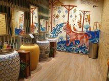Iconsiam mall Bangkok unique mens room royalty free stock photo