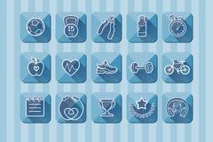 Iconweb平的蓝色背景 图库摄影