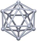 Icosahedron illustration stock