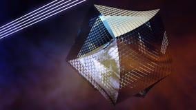 Icosahedron Futuristic Elegant Abstract Shape Royalty Free Stock Image