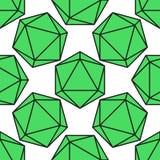 Icosahedron pattern vector. Icosahedron pattern, platonic solids, monochrome geometrical pattern Royalty Free Stock Photo