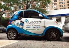 ICracked Mądrze samochód Obrazy Royalty Free
