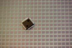 ICs van het silicium wafeltje stock afbeeldingen